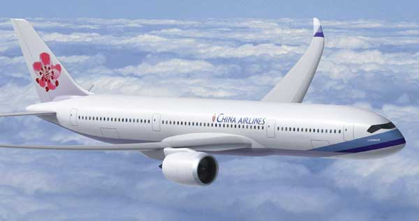 China Airlines non-stop met A350 XWB naar Taiwan