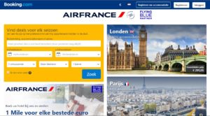 Air france booking com partnership