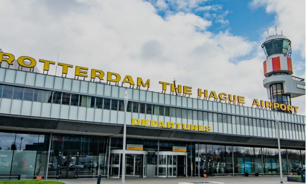 Aantal pax 99 pct lager op R'dam The Hague Airport